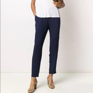 NWT Eileen Fisher System Silk Georgette Crepe Pant